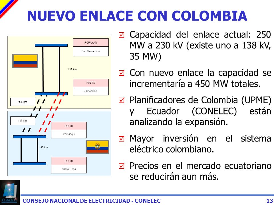 NUEVO ENLACE CON COLOMBIA