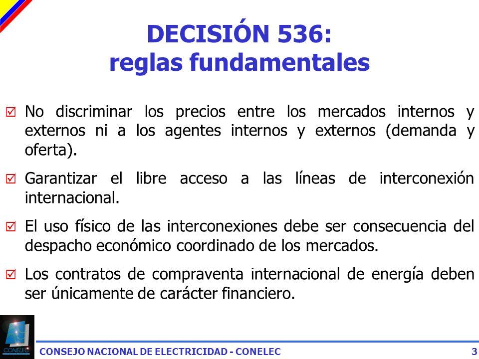DECISIÓN 536: reglas fundamentales