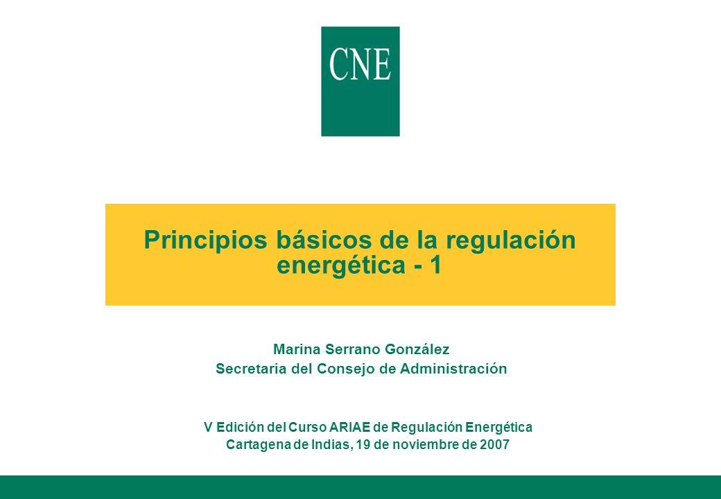 Principios básicos de la regulación energética - 1