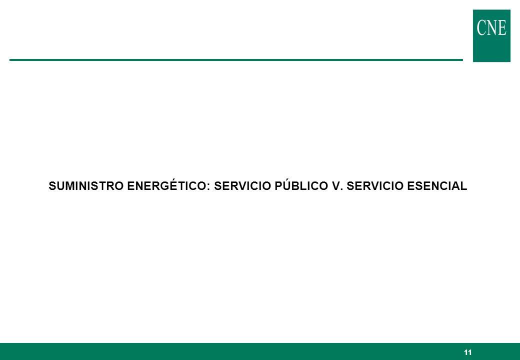 SUMINISTRO ENERGÉTICO: SERVICIO PÚBLICO V. SERVICIO ESENCIAL