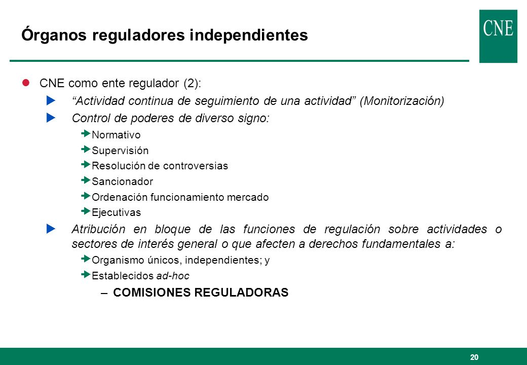 Órganos reguladores independientes