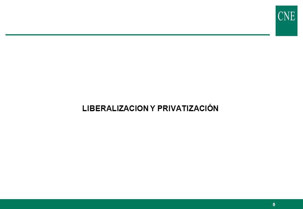 LIBERALIZACION Y PRIVATIZACIÓN