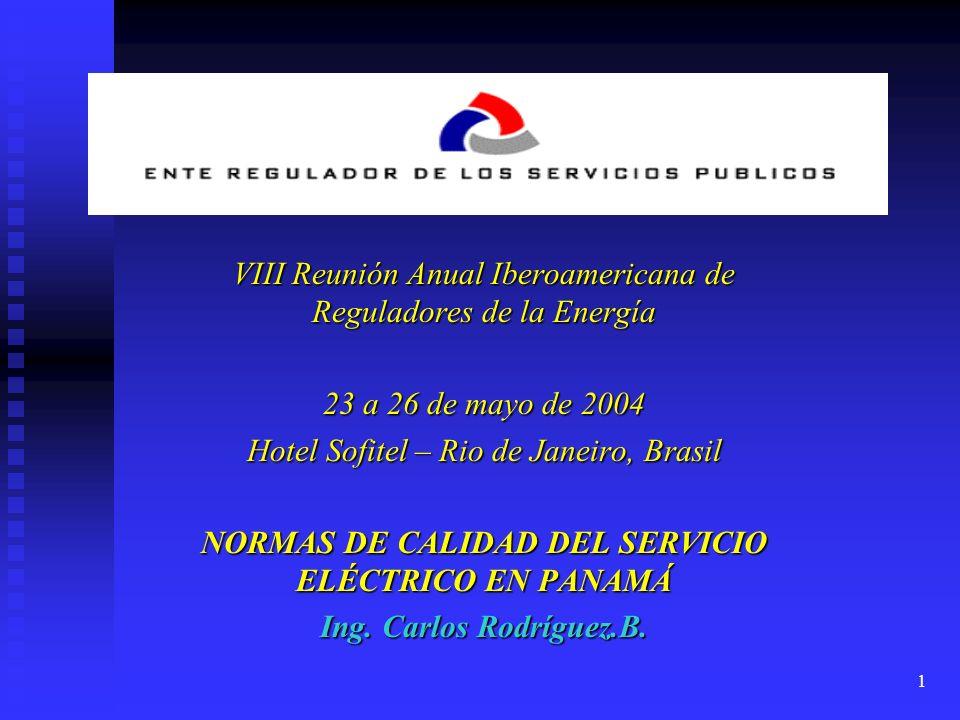 NORMAS DE CALIDAD DEL SERVICIO ELÉCTRICO EN PANAMÁ