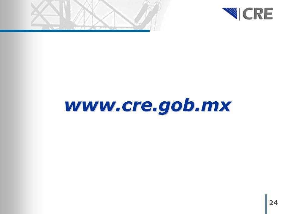 www.cre.gob.mx 24