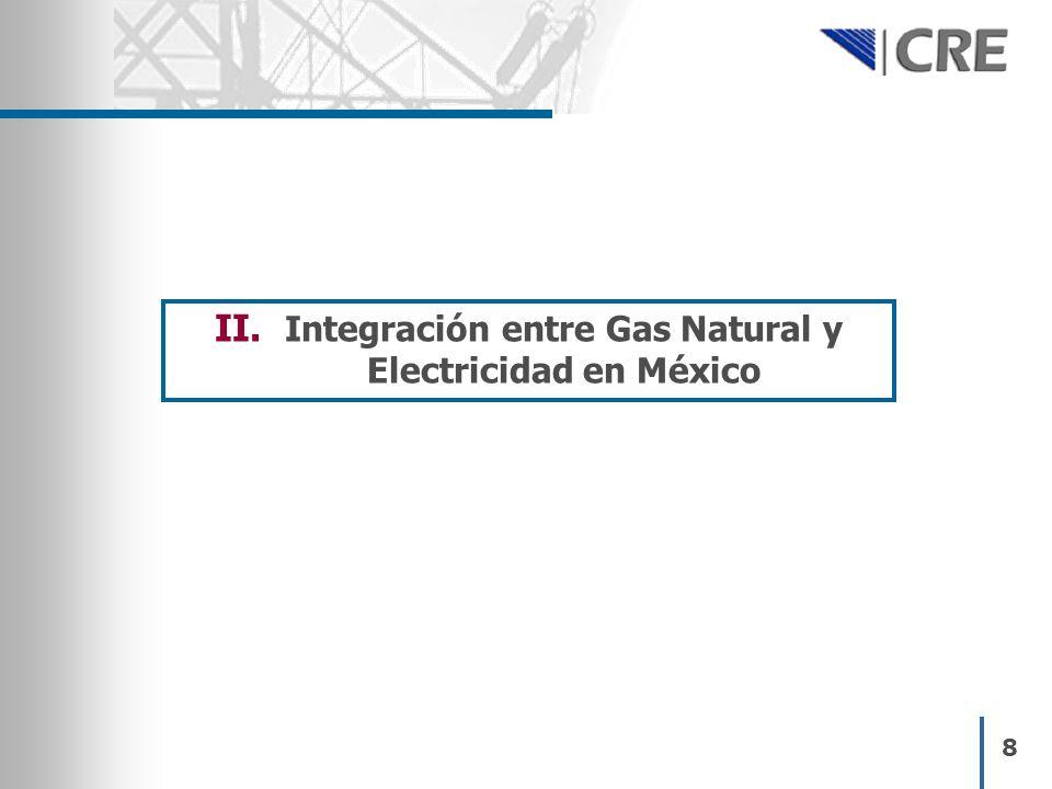 Integración entre Gas Natural y Electricidad en México