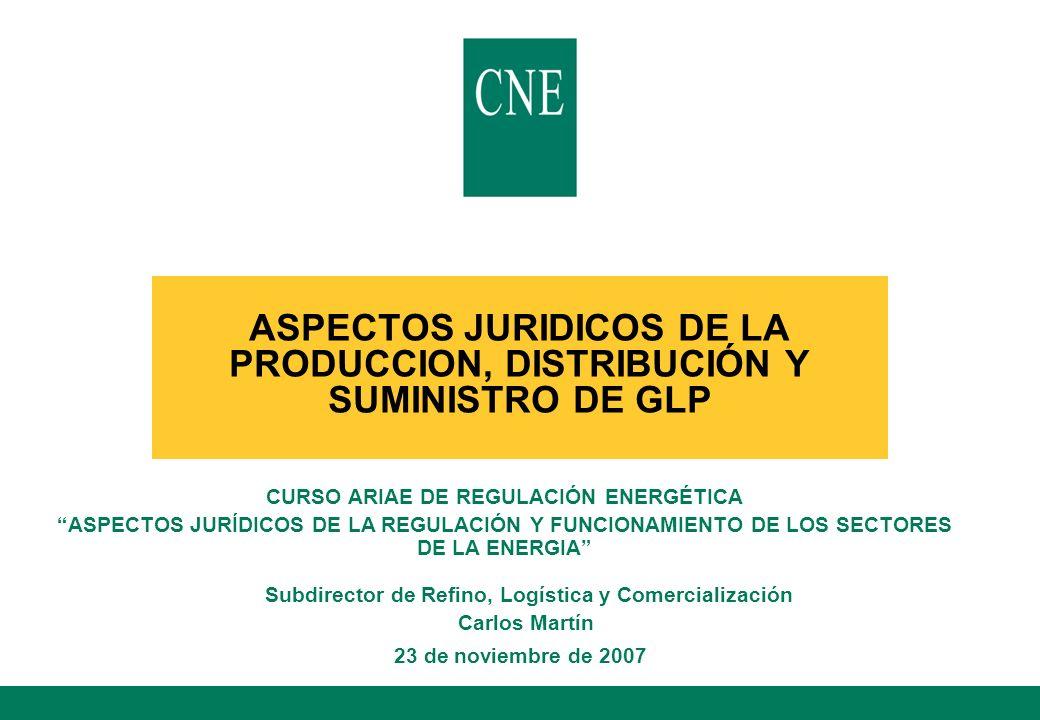 ASPECTOS JURIDICOS DE LA PRODUCCION, DISTRIBUCIÓN Y SUMINISTRO DE GLP