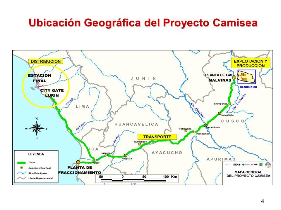 Ubicación Geográfica del Proyecto Camisea