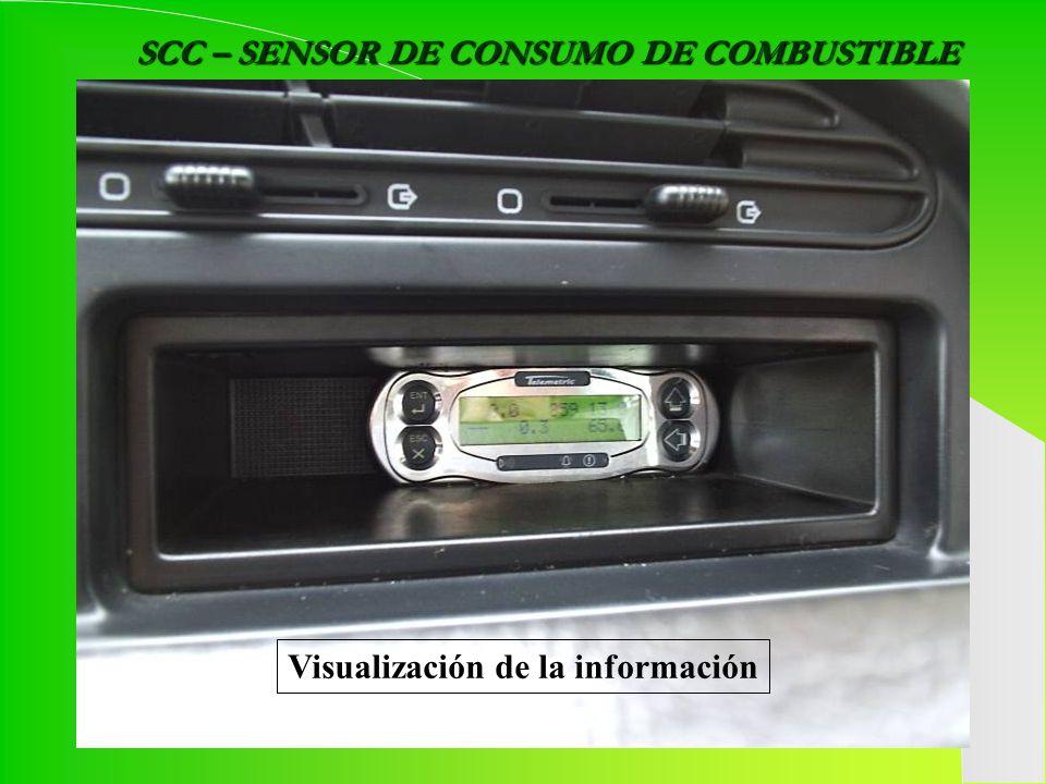 SCC – SENSOR DE CONSUMO DE COMBUSTIBLE Visualización de la información