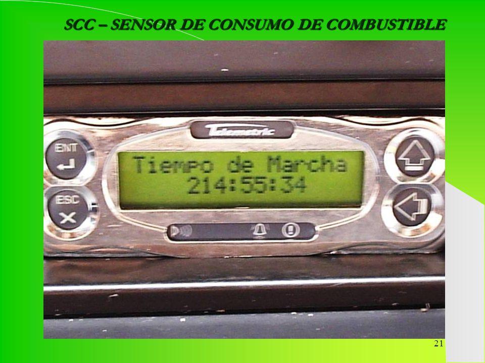 SCC – SENSOR DE CONSUMO DE COMBUSTIBLE