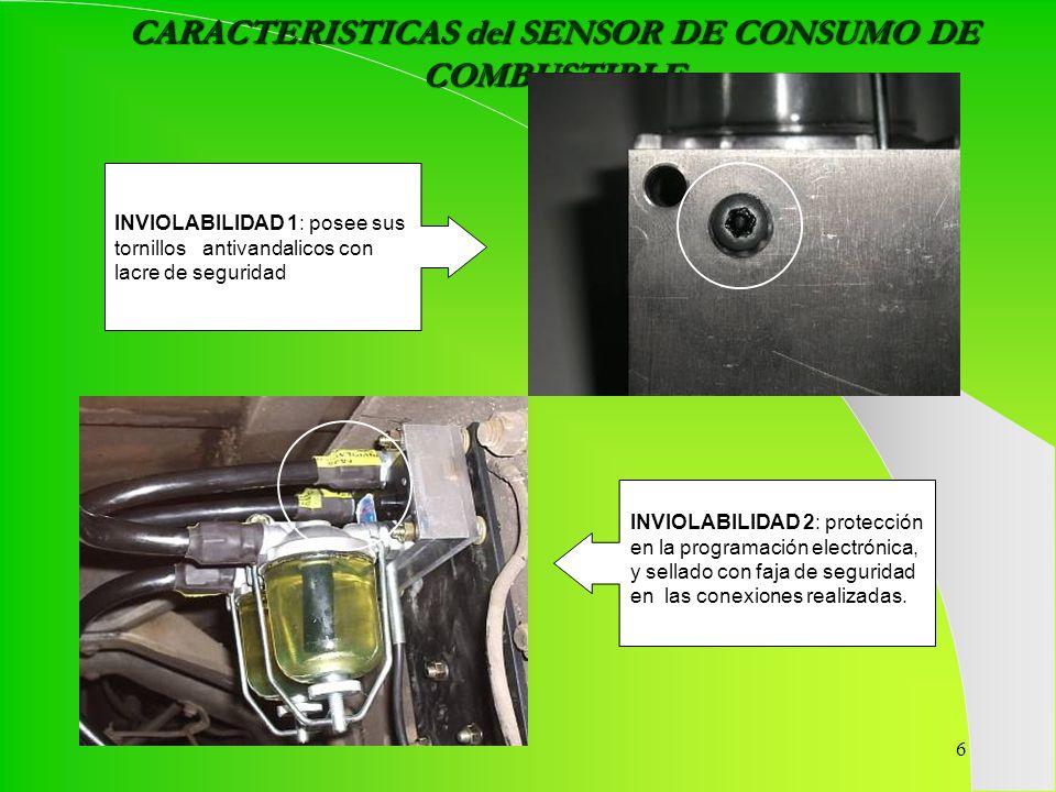 CARACTERISTICAS del SENSOR DE CONSUMO DE COMBUSTIBLE