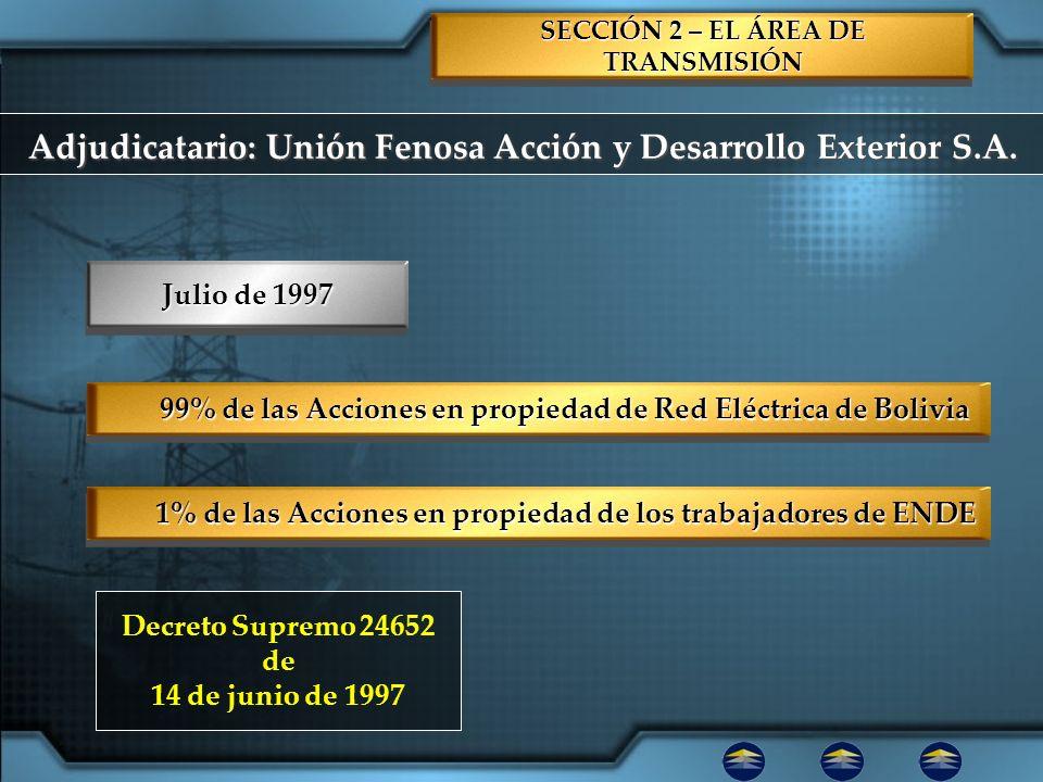Adjudicatario: Unión Fenosa Acción y Desarrollo Exterior S.A.