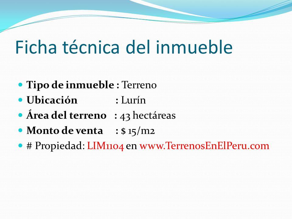 Ficha técnica del inmueble