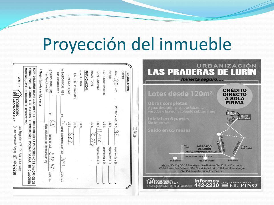 Proyección del inmueble