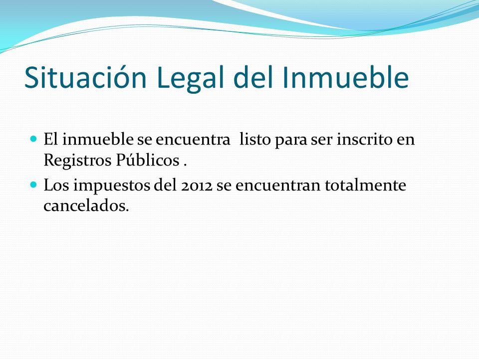 Situación Legal del Inmueble