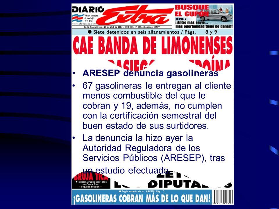 ARESEP denuncia gasolineras