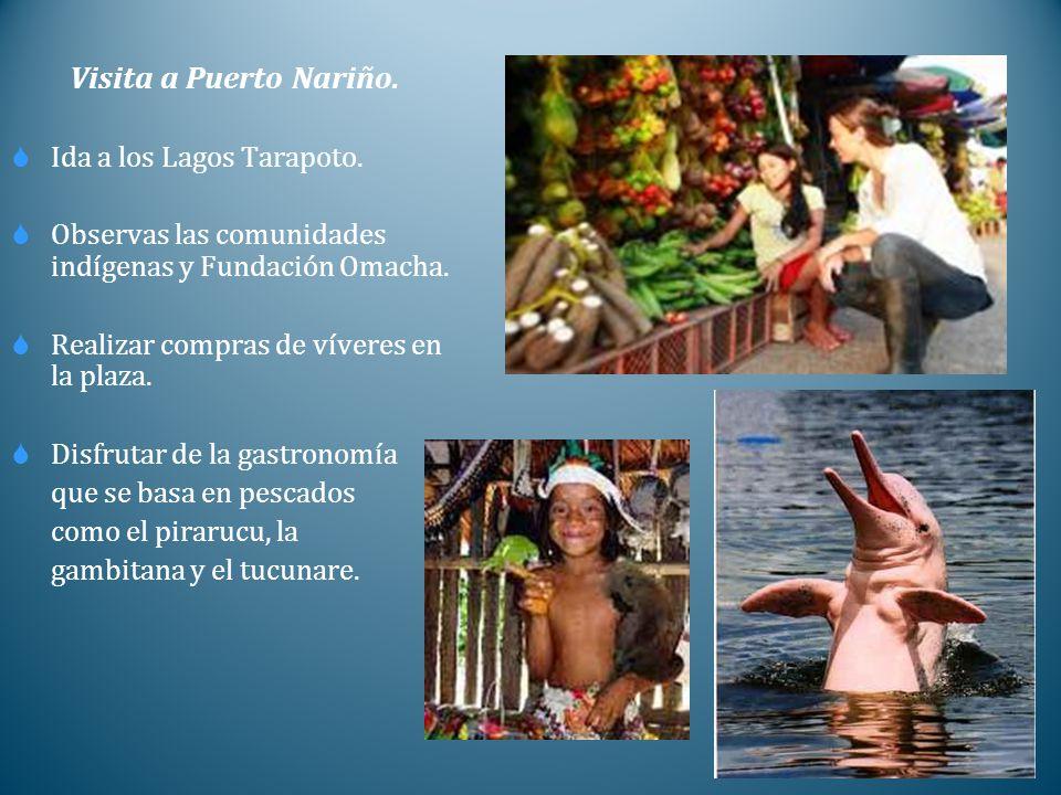 Visita a Puerto Nariño. Ida a los Lagos Tarapoto.