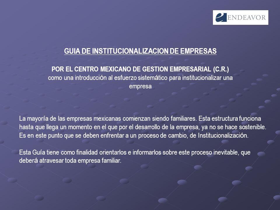 GUIA DE INSTITUCIONALIZACION DE EMPRESAS