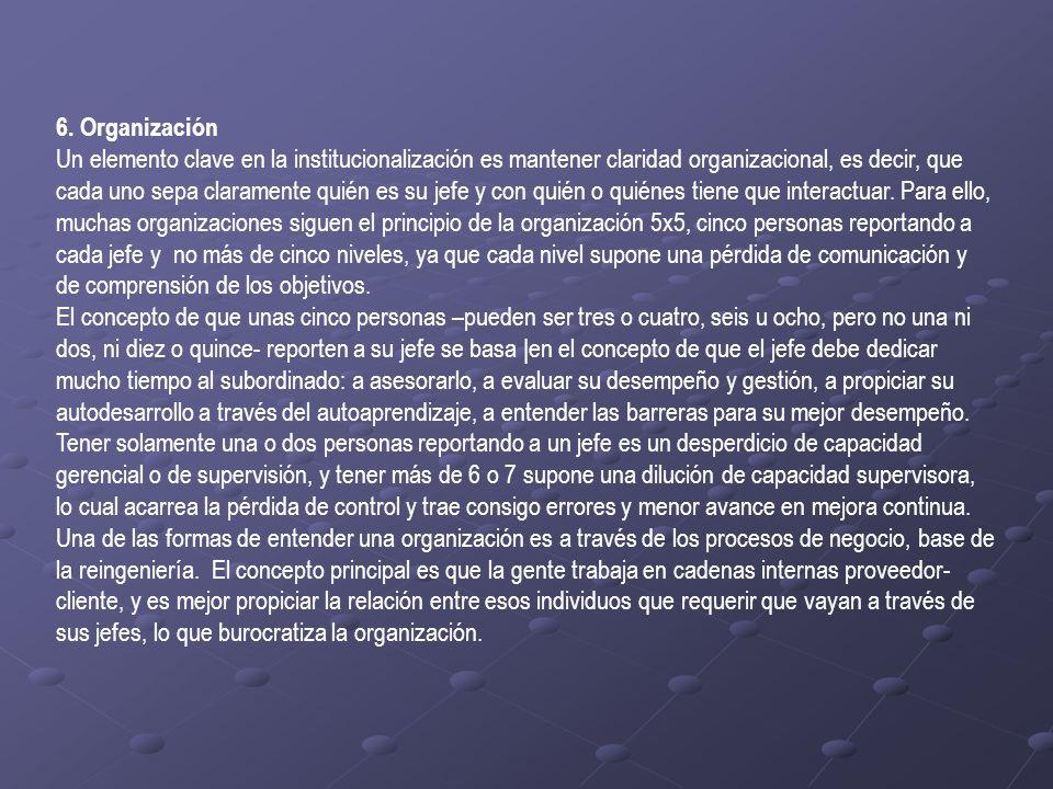 6. Organización