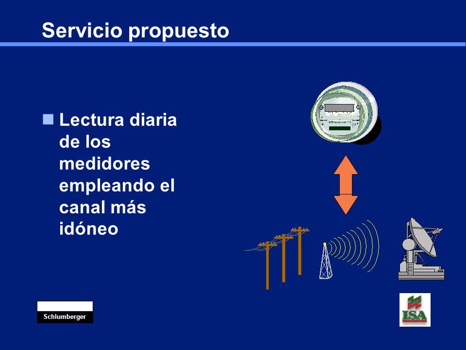 Servicio propuesto Lectura diaria de los medidores empleando el canal más idóneo. Costos satelitales muy bajos.