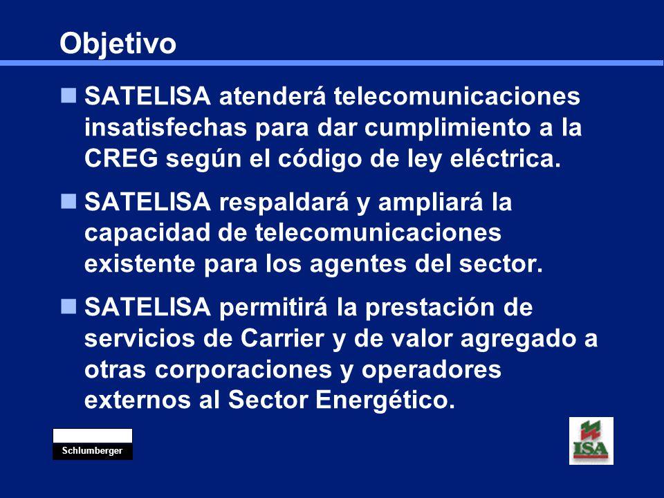 Objetivo SATELISA atenderá telecomunicaciones insatisfechas para dar cumplimiento a la CREG según el código de ley eléctrica.