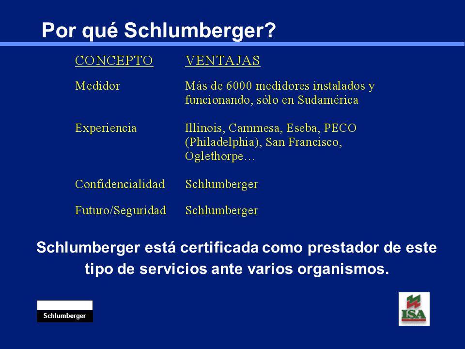 Por qué Schlumberger. Vocación de servicios.