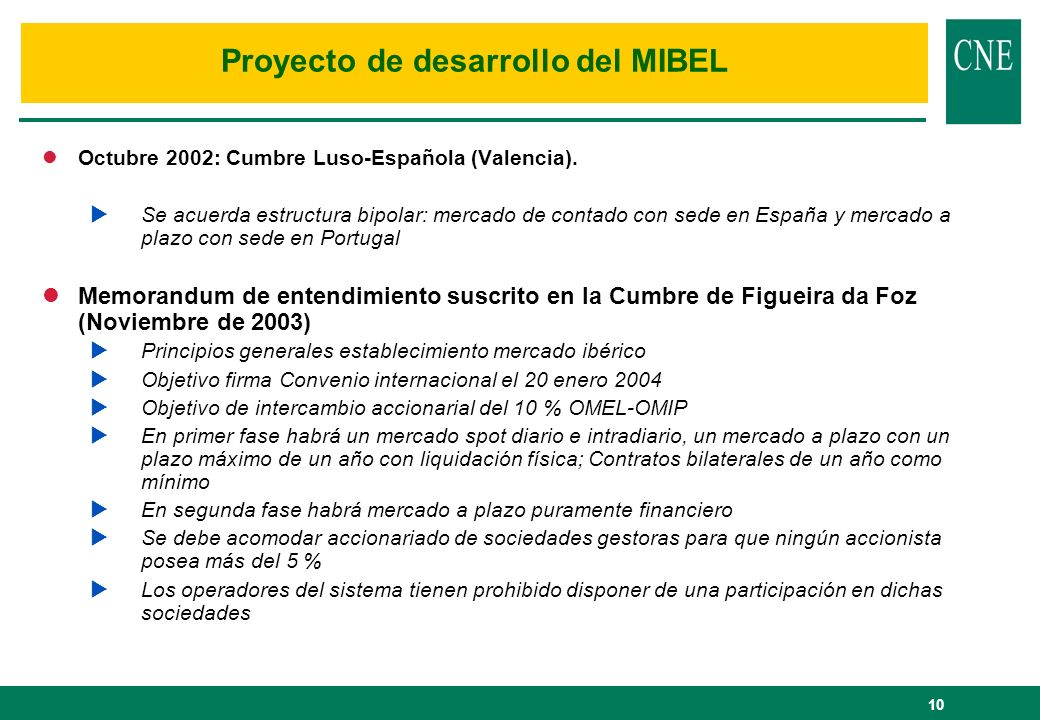 Proyecto de desarrollo del MIBEL