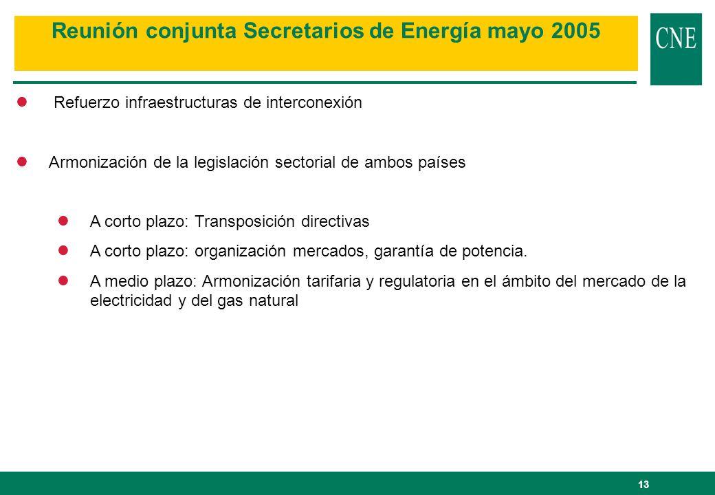 Reunión conjunta Secretarios de Energía mayo 2005