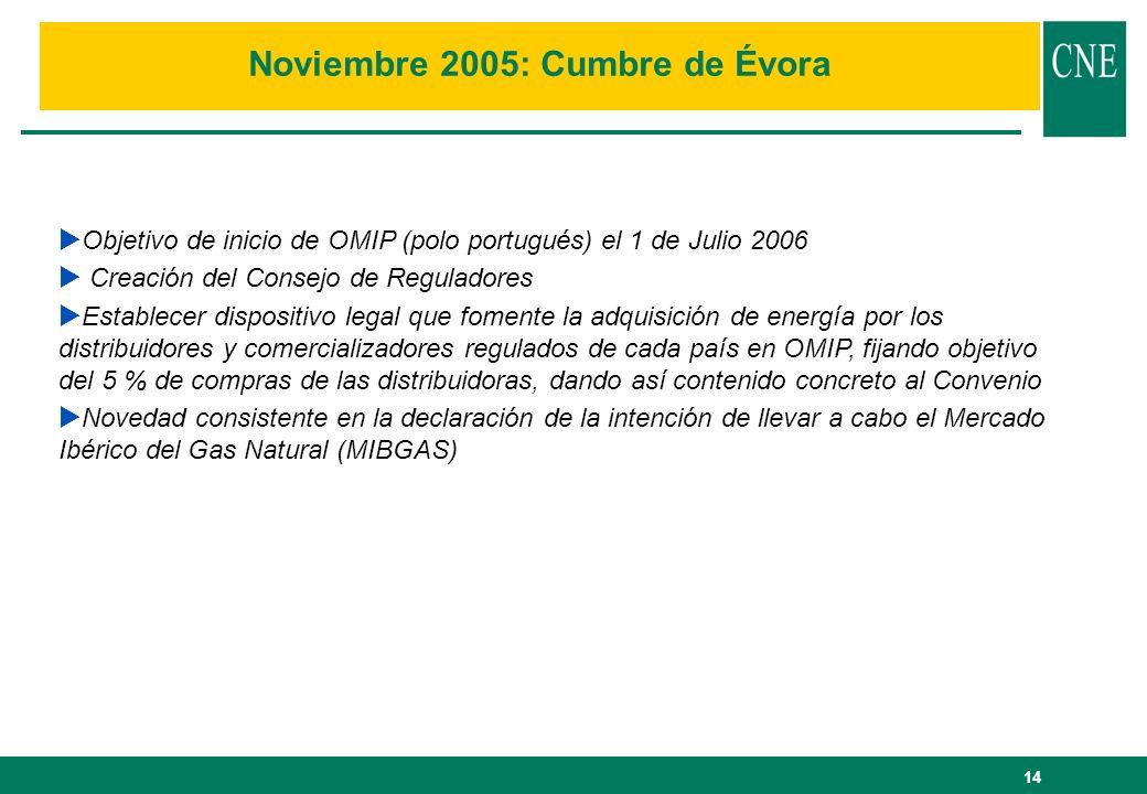 Noviembre 2005: Cumbre de Évora
