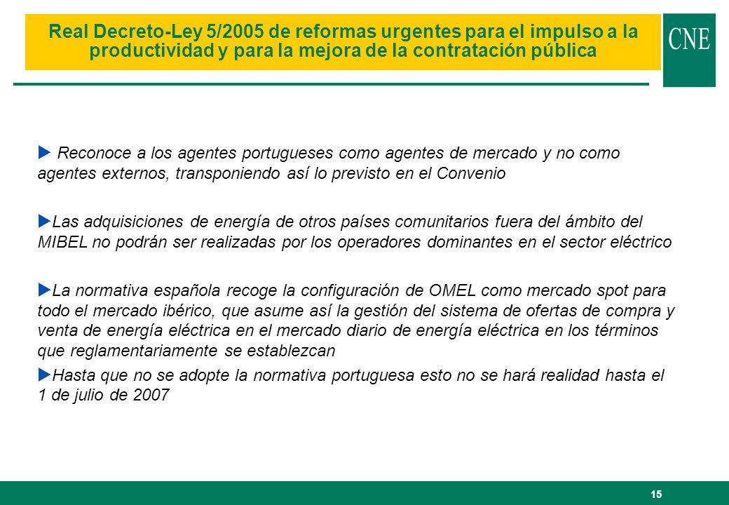 Real Decreto-Ley 5/2005 de reformas urgentes para el impulso a la productividad y para la mejora de la contratación pública