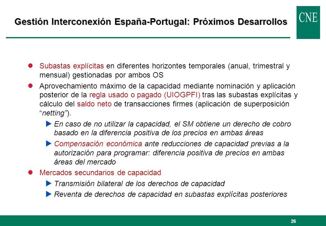 Gestión Interconexión España-Portugal: Próximos Desarrollos
