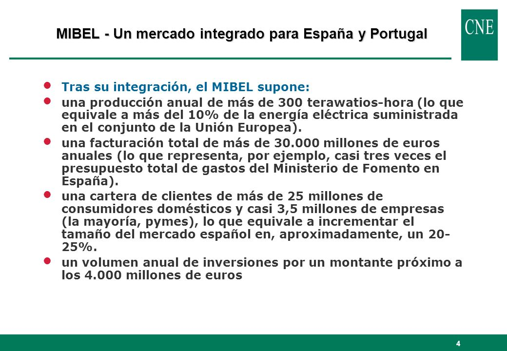 MIBEL - Un mercado integrado para España y Portugal