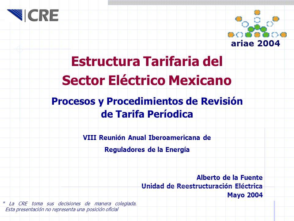 Estructura Tarifaria del Sector Eléctrico Mexicano