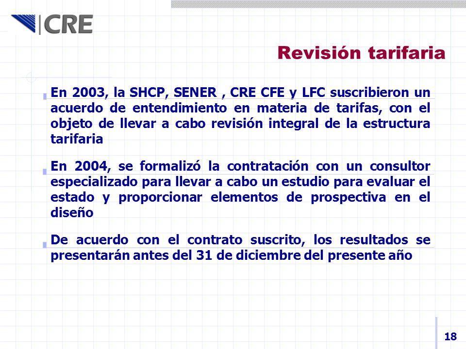 Revisión tarifaria
