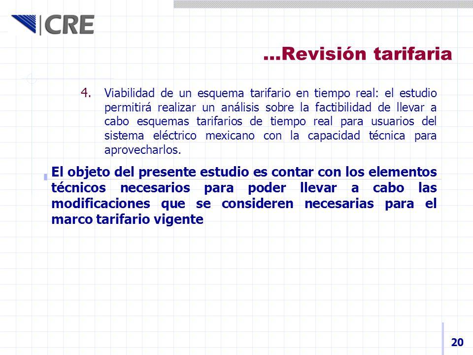 …Revisión tarifaria