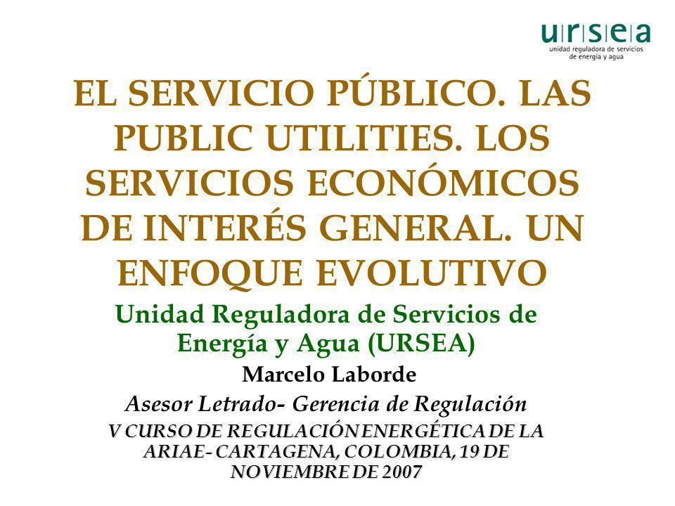 EL SERVICIO PÚBLICO. LAS PUBLIC UTILITIES