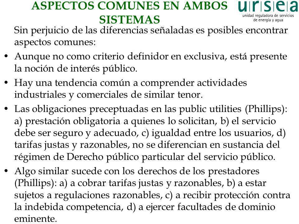 ASPECTOS COMUNES EN AMBOS SISTEMAS
