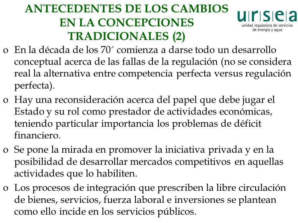 ANTECEDENTES DE LOS CAMBIOS EN LA CONCEPCIONES TRADICIONALES (2)