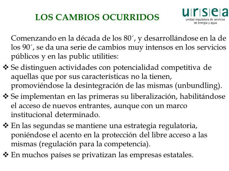 LOS CAMBIOS OCURRIDOS