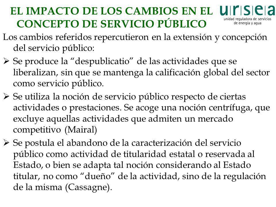 EL IMPACTO DE LOS CAMBIOS EN EL CONCEPTO DE SERVICIO PÚBLICO