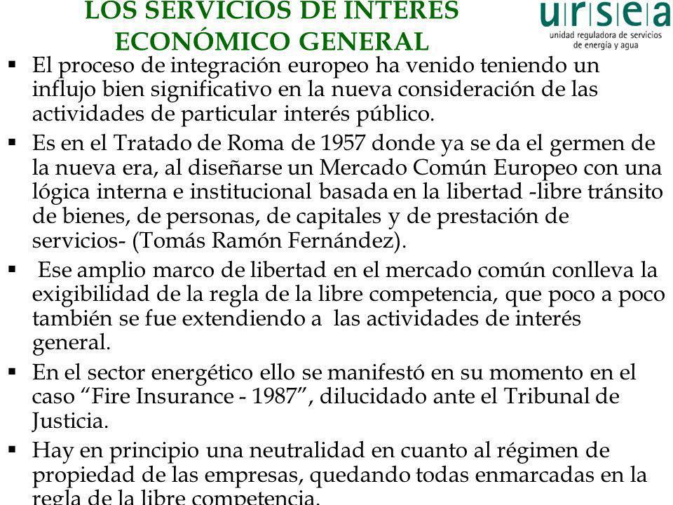 LOS SERVICIOS DE INTERÉS ECONÓMICO GENERAL