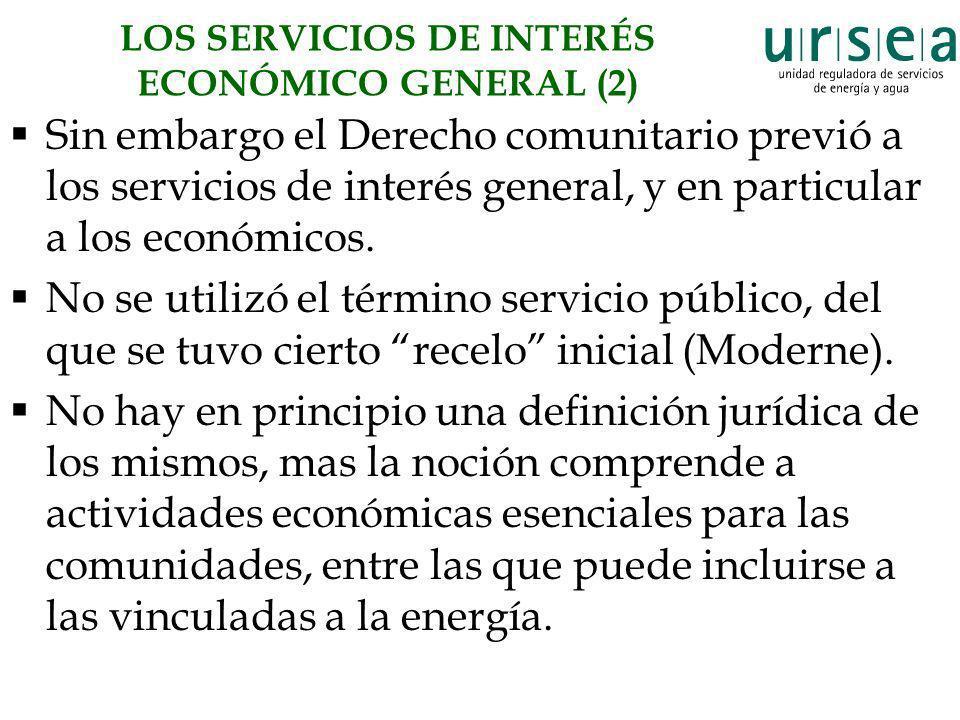 LOS SERVICIOS DE INTERÉS ECONÓMICO GENERAL (2)
