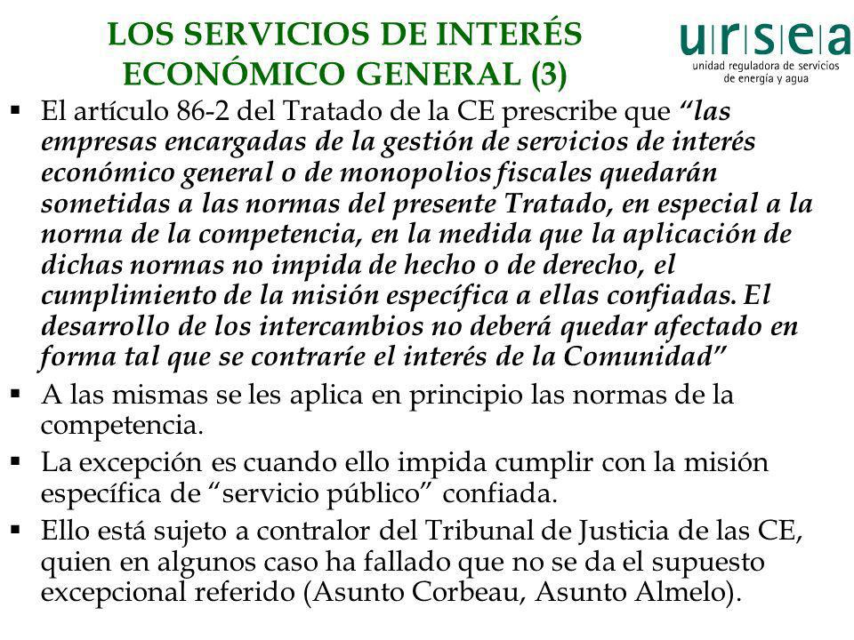 LOS SERVICIOS DE INTERÉS ECONÓMICO GENERAL (3)