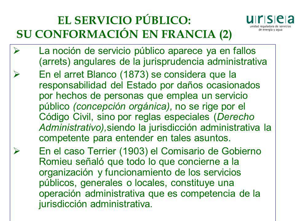 EL SERVICIO PÚBLICO: SU CONFORMACIÓN EN FRANCIA (2)