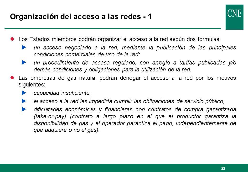 Organización del acceso a las redes - 1