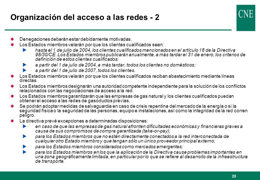 Organización del acceso a las redes - 2