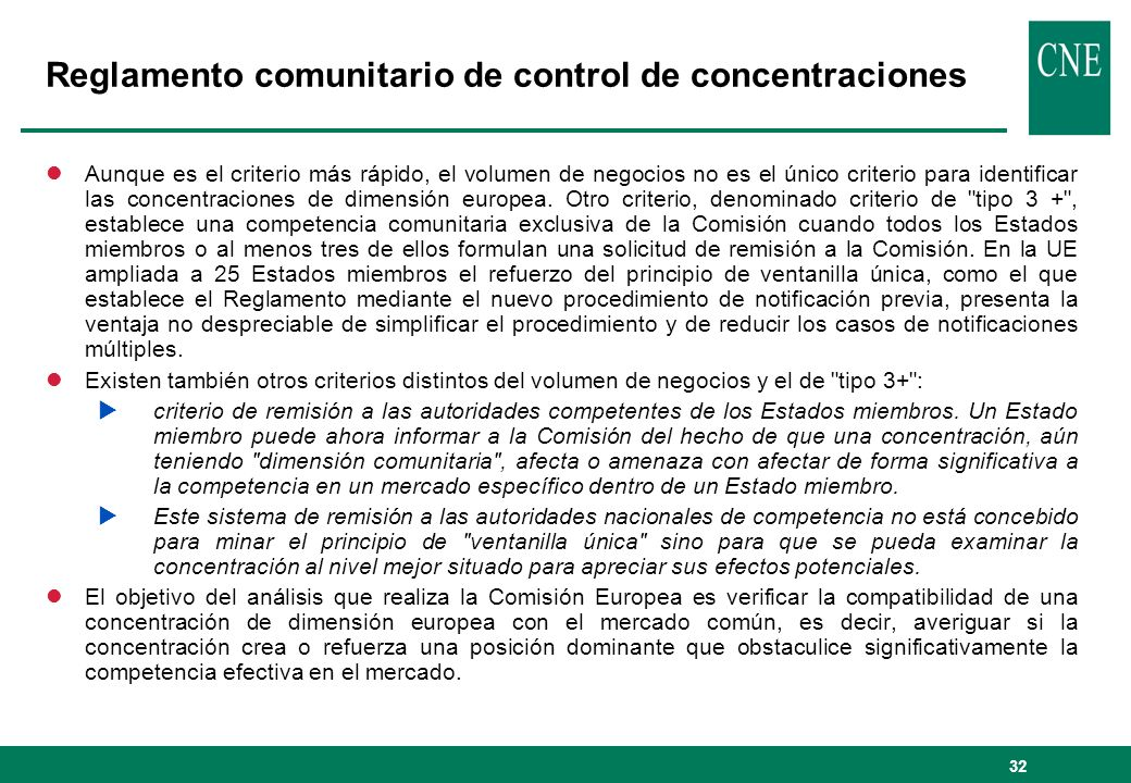 Reglamento comunitario de control de concentraciones