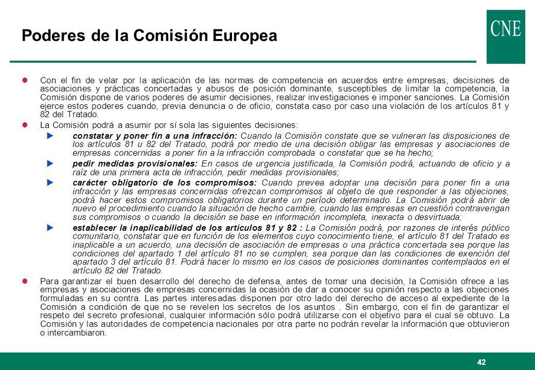 Poderes de la Comisión Europea