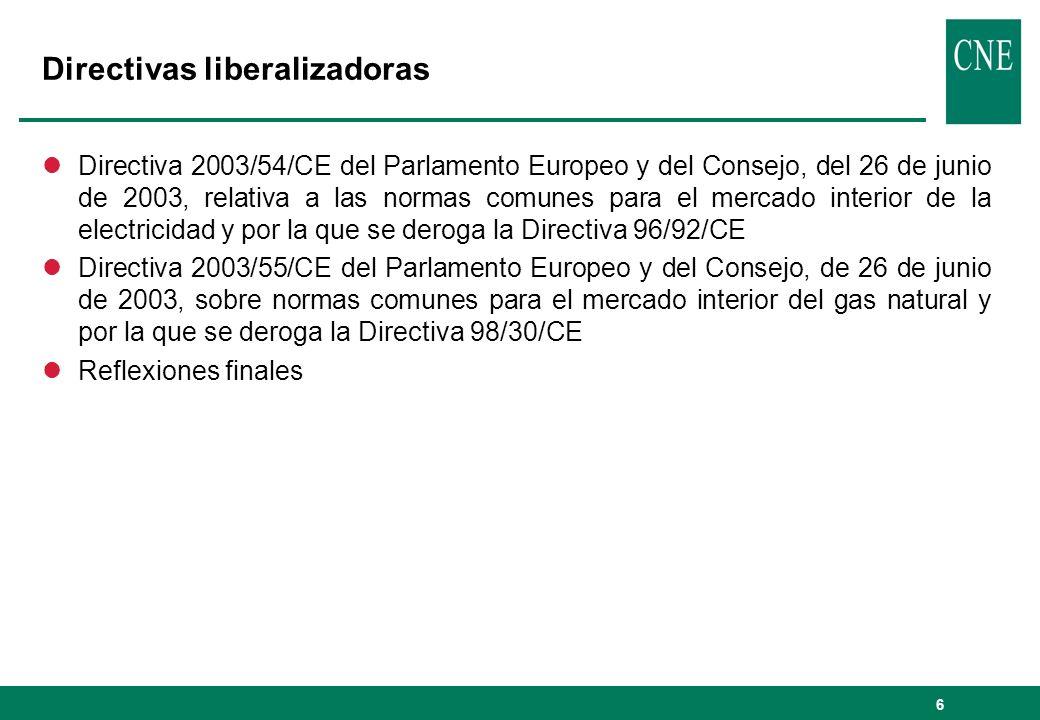 Directivas liberalizadoras