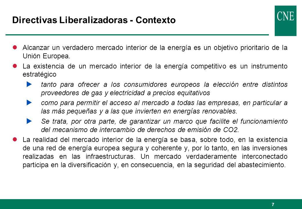 Directivas Liberalizadoras - Contexto