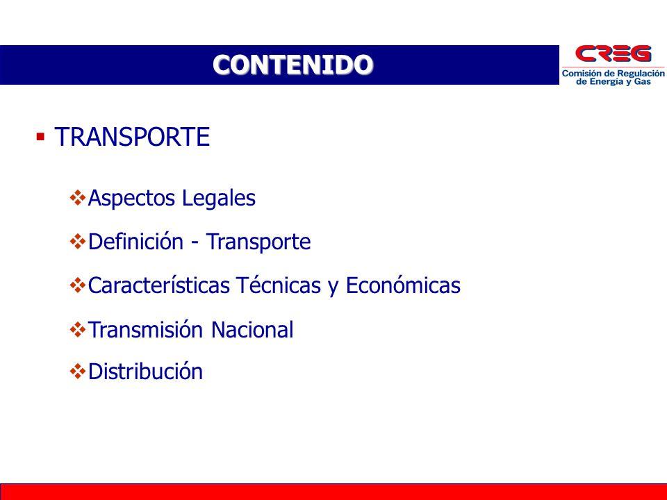 CONTENIDO TRANSPORTE Aspectos Legales Definición - Transporte